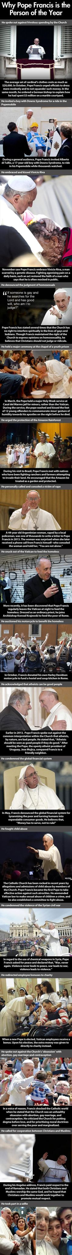 this is why I love the pope like I'm not part of the religion or agree with it but I have so much respect for the pope