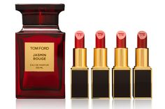 Tom Ford's new Jasmin Rouge collection... the fragrance and the lipsticks. Oh god, the lipsticks!!! WANT.
