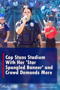 Cop Stuns Stadium With Her 'Star Spangled Banner' Police Cops, Police Humor, Star Spangled Banner Song, Music Songs, Music Videos, Christian Music Artists, American Spirit, National Anthem, Country Boys