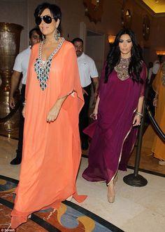 Emirati, kaftan, Dubai, beautiful, Kim kardashian, kris Jenner.
