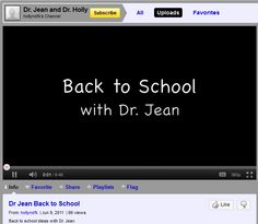 great back to school ideas from Dr. Jean - Lots of class book ideas!