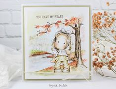 Fall watercolor painting | Halloween week stamp 02 - Day 03