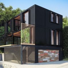 Container House - Cool Windows and use of wood. Would work well as hotel design. - Who Else Wants Simple Step-By-Step Plans To Design And Build A Container Home From Scratch? #containerhomes