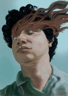 """Auto retrato"", pintura digital, Adobe Photoshop."