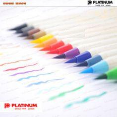 Platinum Diversity Color Brush Pen multi-colour soft  calligraphy brush watercolor pigment flesh tint/sienna Painting Supplies