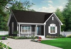 Full technical sheet and illustration of our house plan garage plan shed plan or playhouse. Various categories and house plans available for any budget. Cottage House Plans, Small House Plans, Cottage Homes, Guest House Plans, 2 Bedroom House Plans, Bungalows, Drummond House Plans, Ceiling Plan, Arched Windows