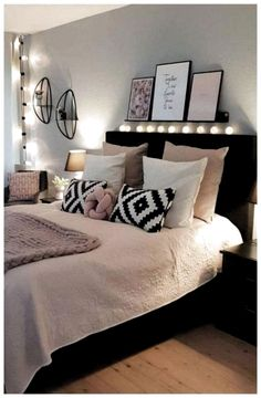 dream rooms for women \ dream rooms . dream rooms for adults . dream rooms for women . dream rooms for couples . dream rooms for adults bedrooms . dream rooms for girls teenagers Couple Bedroom, Small Room Bedroom, Cozy Bedroom, Bedroom Colors, Home Decor Bedroom, Bed Room, Ikea Bedroom, Bedroom Wardrobe, Bedroom Black