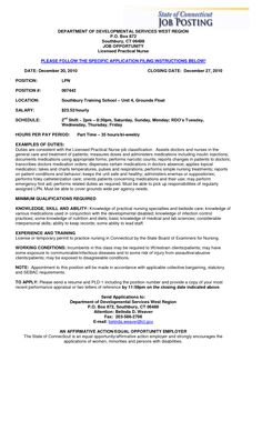 resume for licensed practical nurse