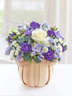 Celebrate the arrival of a new baby by choosing a beautiful bouquet or gift set. Bouquet selections can be gift wrapped, or arrive in vases, baskets or cube arrangements. Gift sets can include flowers with a teddy, balloons or champagne. Basket Flower Arrangements, Beautiful Flower Arrangements, Floral Arrangements, Beautiful Flowers, Thank You Flowers, Mothers Day Flowers, Order Flowers, Arte Floral, Flower Boxes