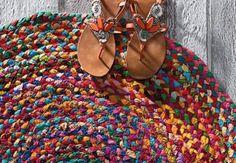 ROUND-Chindi-Rag-Rug-BRIGHT-BRAIDED-Cotton-2-NEW-SIZES-60cm-90cm-120cm-or-150cm