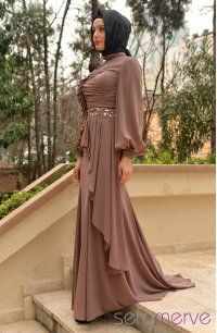 Sefamerve, Sefamerve Abiye Elbiseler PDY 2519-01 Vizon