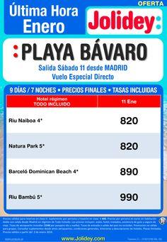 Oferta Ultima Hora Playa Bávaro desde 820€, salida 11 de Enero desde Madrid ultimo minuto - http://zocotours.com/oferta-ultima-hora-playa-bavaro-desde-820e-salida-11-de-enero-desde-madrid-ultimo-minuto/