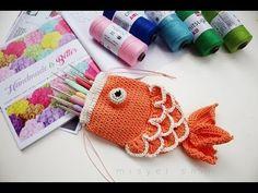 Crochet Drawstring Fish Pouch – Design Birdy
