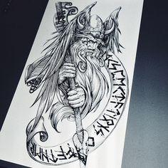 Norse Mythology Tattoo, Slavic Tattoo, Norse Tattoo, Celtic Tattoos, Viking Tattoos, Viking Tattoo Sleeve, Viking Tattoo Symbol, Rune Tattoo, Viking Tattoo Design