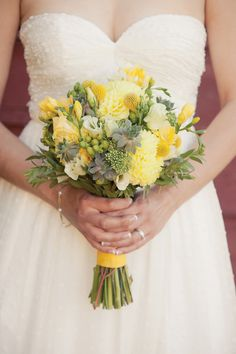 Bridal Bouquet-Sunny Wedding Bouquet-with less gray & yellow & more white.