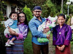UNICEF Regional Goodwill Ambassador Aamir Khan with a lady and children