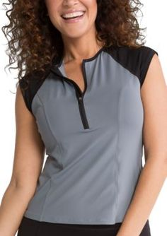 Spanx Women's Cap Sleeve Active Top - Sa0115 - Cool Gray - M