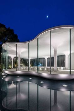 View the full picture gallery of Cloud Of Luster Chapel Futuristic Architecture, Interior Architecture, Church Architecture, Unique Architecture, Interior Design, Languedoc Roussillon, Beaux Villages, Glass Floor, Curved Glass
