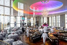 The setting: The Big Bang Theory star said 'I do' inside New York City's famed Rainbow Room on Saturday evening, Page Six has reported