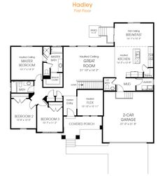 3 Bedroom Rambler Floor Plan For Your New Utah Home, The Hadley Is Just What
