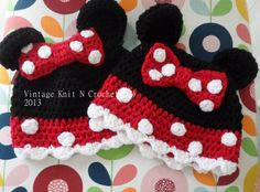 Instant Download  VKNC296 Minnie Mouse  Hat Crochet pattern  baby girls character hat Christmas present Instant download on Etsy, $4.31