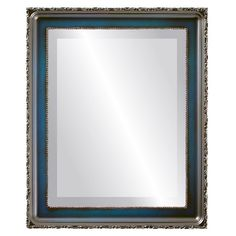 Kensington Framed Rectangle Mirror in Royal Blue - Medium high)) Contemporary Frames, Modern Frames, Contemporary Design, Mirror Store, Blue Stain, Thing 1, Beveled Mirror, Modern Decor, Royal Blue
