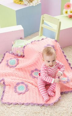 "Free pattern for ""Flowers Blanket""!"