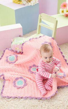 "Free pattern for ""Flowers Blanket""!"