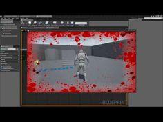 Unreal Engine 4 - Blood Splash Health Effect (Like Call of Duty) Splash Effect, Mobile Project, Game Mechanics, Tech Art, 3d Video, Video Game Development, Modelos 3d, Game Engine, Unreal Engine