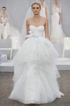 Monique Lhuillier Spring 2015 wedding dresses