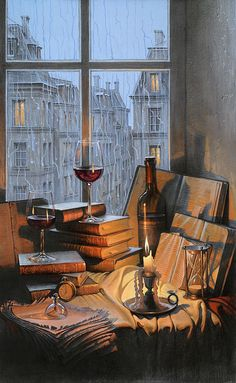 Alexei Butirskiy 2015 Show Originals - Memories of Days Gone By Art Sketches, Art Drawings, Aesthetic Art, Aesthetic Images, Oeuvre D'art, Art Inspo, Aesthetic Wallpapers, Still Life, Amazing Art