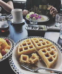Old School - Toronto, Canada Toronto Canada, Waffles, Food Porn, School, Breakfast, Instagram, Morning Coffee, Waffle, Treats