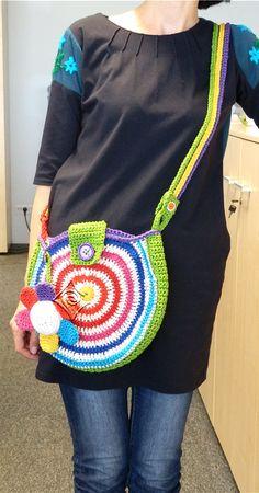 rainbow bag - crochet thread: cotton