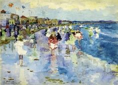 Revere Beach - Maurice Prendergast, c.1896-97