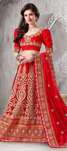 Dear brides, are you confused what to wear on D-day? Trust the old #Red - flat 10% off  #lehenga #bridalwear #India