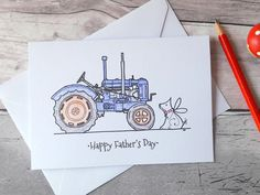 Vintage Birthday Cards For Him ~ Personalised tractor birthday card happy birthday vintage tractor