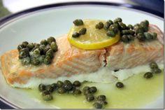 Salmon with Lemon Butter Caper Sauce