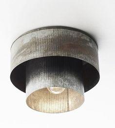 rustic industrial light fixture