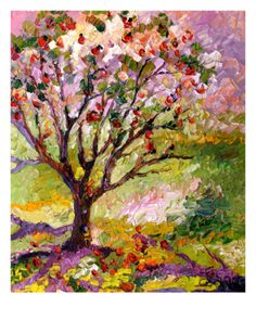 Grandmas Apple Tree Oil Painting By Ginette Giclee Print by Ginette Callaway at Art.com--originally posted on a blog by Christy Shake.  Pinning this the day after Hurrican Sandy--this pictur is much prettier than the mess of leaves and branches outside!