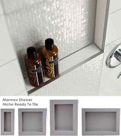 Save time & effort with prefabricated niche ready to tile!