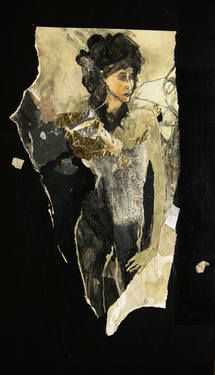 "Saatchi Art Artist Ute Rathmann; Collage, ""Tribute to James Goldstein VIII"" #art"