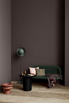 The Scandinavian company Jotun Lady predicts the interior colour trends of 2020 with 12 new colours Interior Paint, Home Interior Design, Interior Styling, Interior Wall Colors, Purple Interior, Interior Shop, Luxury Interior, Dark Interiors, Colorful Interiors