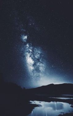 Image discovered by Naren. Find images and videos about blue, nature and sky on We Heart It - the app to get lost in what you love. Beautiful World, Beautiful Places, Beautiful Pictures, Sky Full Of Stars, All Nature, To Infinity And Beyond, Milky Way, Stargazing, Night Skies