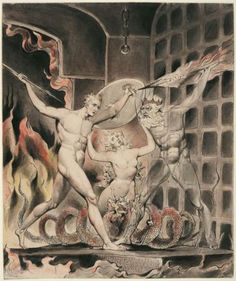 Illustration to Milton`s Paradise Lost (1807) by English artist William Blake (1757-1827).
