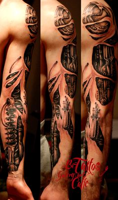 bio mechanical sleeve in progress by Diki 2014