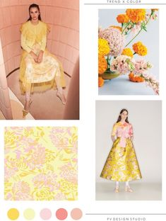 SOURCE: Red Valentino and MSGM - Resort mood images floral arrangement, Style Me Pretty, here and floral print by Lorlo. Mood Images, Fashion Forecasting, Yellow Fashion, Color Fashion, Fashion Prints, Fashion Design, Mellow Yellow, Summer Colors, Pantone Color