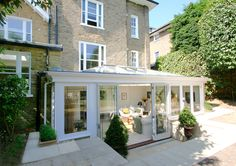 001 Classic Orangery on listed house in Wimbledon, London Garden Room, Roof Lantern, Kitchen Orangery, House, Porch Uk, House Exterior, London House, Old Style House, London Townhouse