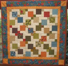 """Divided 5"""" nine patch.  Charm Square Quilt Pattern - Sleeping Bear Crafts - Patchwork Quilting"""