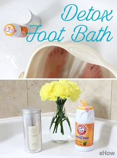Make yourself a relaxing, detoxifying foot bath using baking soda and Dead Sea salts. So many benefits that your feet will thank you for immediately! http://www.ehow.com/how-does_4778828_recipe-homemade-detox-foot-bath.html?utm_source=pinterest.com&utm_medium=referral&utm_content=freestyle&utm_campaign=fanpage