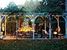 Romantic Garden Pergola Outdoor Room For Barbeque Party Photorika Gazebo, Outdoor Pergola, Outdoor Rooms, Outdoor Dining, Outdoor Gardens, Dining Area, Patio Decks, Backyard Pergola, Outdoor Seating